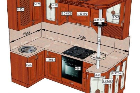 Кухня  МДФ с пленкой ПВХ