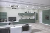 Кухня «Интегра» зеленая пастель - изображение 1
